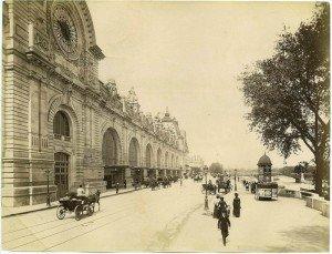 carte postale ancienne gare du quai d'orsay