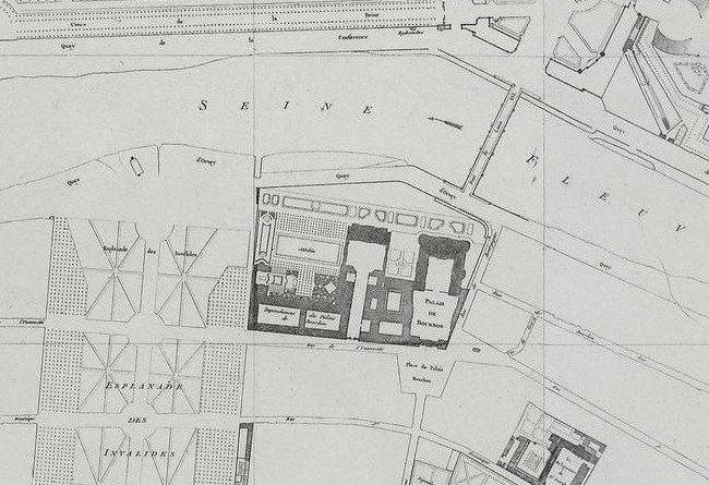 plan verniquet 1790 place palais bourbon